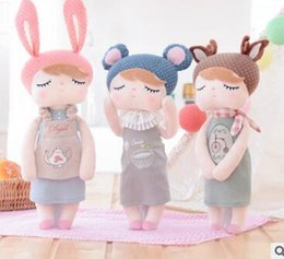 "Wholesale Metoo Rabbit Doll - 13""Metoo Cartoon Stuffed Animals Angela Rabbit Plush Toy Doll Lace Baby Doll with Sleep Plush Baby Toys kids girls Birthday Christmas Gift"