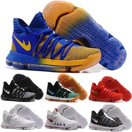 Wholesale Men Floral - Zoom KD 10 Basketball Shoes Men Men's Homme Blue Tennis BHM Kevin Durant 10 X 9 Elite Floral Aunt Pearls Easter Sport Shoes