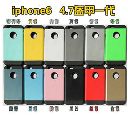 Wholesale Nexus 4s Case - 100pcs Colorful Slim Armor Tough Armor PC+Silicone Case Cover For iPhone 6 5S 4S Galaxy S6 S5 Note 4 LG Nexus 6