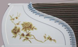 Wholesale Play Series - fedex Free shipping Wholesale and professional guzheng White paint series Chinese rose play the guzheng