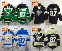 Wholesale Good Penguin - Factory Outlet, Good Quality Womens Pittsburgh Penguins Hoodie Jerseys #87 Sidney Crosby Black Ice Hockey Hoodie,100% Embroidery and Sewing