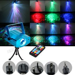 Wholesale Mini Red Blue Moving - 9W 7colors RGB Mini Led Laser Stage Light Portable Ocean Moving Waves Effect Projector Lighting DJ Theater Ballroom Clubs Party Night Light