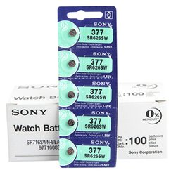 Wholesale Button Battery Silver Oxide - Button cell batteries Battery Original From Japan 377 SR626SW 626 SR626 V377 AG4 Watch Battery Button Coin Cell 1.55 V long Lasting