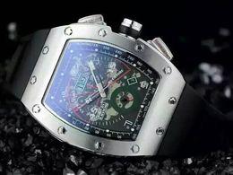 Wholesale Black Titanium Watch - Luxury Swiss Top Brand AAA RM011 Titanium Stainless Transparent Mens Mechanical Watch Felipe Massa Flyback rubber Men Automatic Wristwatches