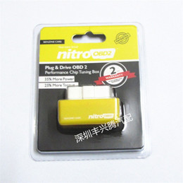Wholesale Bmw Driving - 2015 New Arrival Chip Tuning Box Plug and Drive NitroOBD2 Benzine Nitro OBD2 Benzine interface Chip Tuning Box Interface