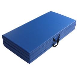 Wholesale folding yoga mats - Wholesale-Body Building Fitness Portable Folding Gym Mat PU Yoga Mat Exercise Training Lose Weight Yoga Pads 120x240x5cm