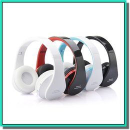 Wholesale Headphones For New Ipad - New arrival NX-8252 Foldable Wireless Bluetooth Stereo Headphone Headset with Mic for IPhone IPad PC with factory price DHL free shipping