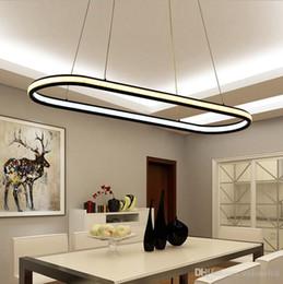 Wholesale Glow Chandelier - double glow hanging light aluminum modern led chandeliers led pendant lighting fixtures living dining kitchen room high brightness