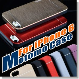 Wholesale Back Cover Iphone Silicone - Fo Iphone 7 6 5SE Case Motomo Metal Aluminum Brushed PC Hard Back Cover Skin,Ultra Thin Slim Brush Cases For iPhone 6 6plus Samsung LG