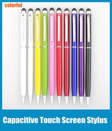 Wholesale Cellphone Pens - Touch Screen Stylus Pen Muti-fuction Capacitive and Ball Point Pen 2-in-1 for Iphone Sumsang Ipad HTC etc all Smart CellPhone&Tablet STY004