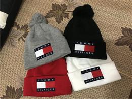 Wholesale Printing Checks - 2018 New Arrival Unisex Autumn Winter brand Tom Beanies men Knitted hat Fur Poms Beanie pom-pom skull hats women Gorro Bonnet caps wholesale