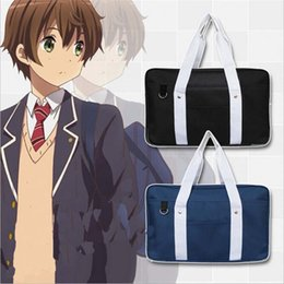 Wholesale japanese school cosplay - Wholesale-Japanese Japan Cosplay School Bag JK Uniform Bag Messenger Shoulder Preppy Bag Handbags