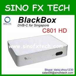 Wholesale Tv Box Receiver Singapore - Singapore HD Cable TV receiver Blackbox C801 HD DVB-C set top box Black box c801 free shipment