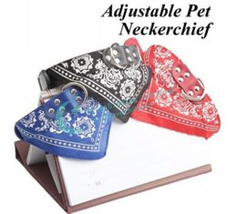 Wholesale Dog Bandana Collar L - Wholesale-Size L Brand New Large Adjustable Pet Dog Cat Bandana Scarf Collar Neckerchief Hot Drop Shipping Free Shipping