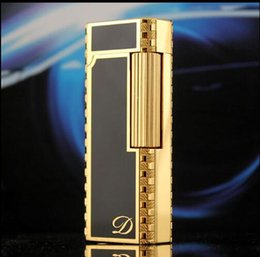 Wholesale Classic Cigarettes - Narrow version of s. t. D upont gas lighter black gold classic symbol Feel is very good Powered by Youdao