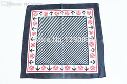 Al por mayor-hip-hop pañuelos para un pañuelo de cabeza pañuelo de algodón 100% envío gratis - estilo azul marino desde fabricantes