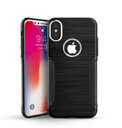 Wholesale Brushed Iphone Case - Soft TPU Metal Plated Buttons Armor Phone Case Slim Protective For iPhone X 8 7 Plus Samsung Note 8 S7 S8 Brushed Cover Shockproof