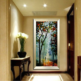 Wholesale Knife Oil Paintings - 100% Pure Hand Painted Modern Living Room Study Walkway Home Decoration Art Oil Painting Thick Oil Color Canvas Knife Painting JL030
