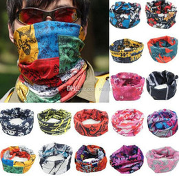 Wholesale Embellished Headbands - Bandanas Multifunctional Outdoor Cycling Scarf Magic Turban Sunscreen Hair band DHL Fast Shipping g1-g30