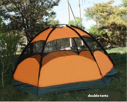Wholesale Top Quality Person Tent - Wholesale-Top Brand Quality double layer 5-8 person rainproof ourdoor large camping tent for hiking fishing hunting adventure picnic party