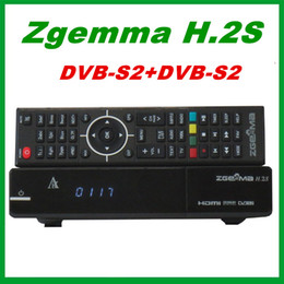 Wholesale Dvb S2 Hd - 10pcs Original Zgemma H.2S TWO DVB-S2 enigma 2 Linux Operating System HD satellite receiver Support TF card free shipping