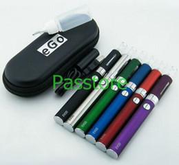 Wholesale Wholesale Electronics Cigarettes Cases - MT3 EVOD Starter Kit Zipper Case Package Electronic Cigarette 650mAh 900mAh 1100mAh Battery MT3 Atomizer Vaporizer Clearomizer 50pcs