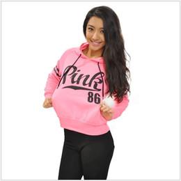 Wholesale Womens Long Sweater Coat Black - wholesale Women Long Sleeve Hoodie Sweatshirt Sweater Casual Coat Pullover Pink Print Hoodies Sport sweater fleeces Hoody Womens Clothing