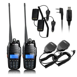 Wholesale Baofeng Dual Charger - Wholesale-TYT TH-UV8000D 10W Dual Band Transceiver Walkie Talkie Two Way Radio+Baofeng Speaker Mic+Car Charger Cable+USB Programming Cable