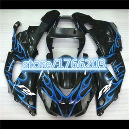 Wholesale 99 R1 Parts - Motorcycle fairings kit for YAMAHA 1998 1999 YZFR1 YZF R1 YZF1000 98 99 blue flame in black fairing parts