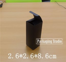 Wholesale Custom Shipping Boxes Wholesale - Black Cosmetic Perfume Lipstick Essence Bottle Packaging Kraft Paper Boxes Custom Boxes Free Shipping