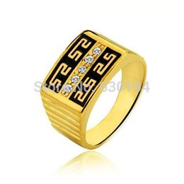 Wholesale Elegant Jewelry For Men - Cool Men's Ring 18K Rose Gold Plated Jewelry Quality Elegant Rhinestone Rings For Men #CR0632