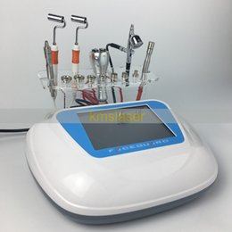 Wholesale Galvanic Face Lift Machine - Diamond Microdermabrasion Dermabrasion Facial Peel Oxygen Spray Galvanic blackhead removal skin rejuvenation face lift Machine