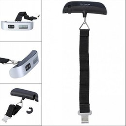 Wholesale Digital Lcd Luggage Weight Scale - Fashion Hot Portable LCD Display Electronic Hanging Digital Lage Weighting Scale 50kg*10g 50kg  110lb Weight Scales