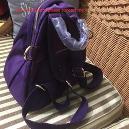 Wholesale Backpack Logos - Fashion C symbol purple Backpack or shoulder bag Vintage Style Retro Backpack for gold logo hardware with dust bag