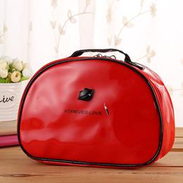 Wholesale Women Carton - Hot Sale !New Design !Cosmetic Bag Waterproof Women Makeup Bag Travel Portable Carton Black Red Color
