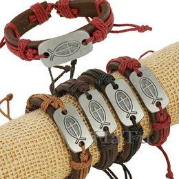 Wholesale Cross Ornaments - 10 styles cross bracelets assorted 12pcs lot cheap adjustable fashion jewelry ornament bracelets bangles faith cross bangle wristband