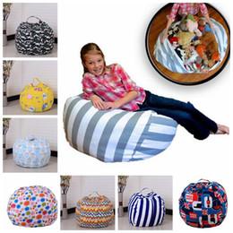 Wholesale Modern Kids Clothing Wholesale - 45cm Modern Storage Stuffed Animal Storage Bean Bag Chair Portable Kids Toy Storage Bag Play Mat Clothes Home Organizer KKA3584