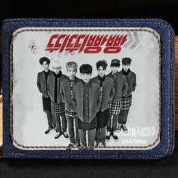 Wholesale Beating Dress - Btob wallet Born to beat purse Music group short cash note case Money notecase Leather burse bag Card holders