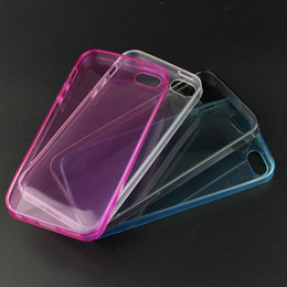 Wholesale Cases For Iphone 5c Silicone - Transparent TPU phone case Clear cover soft silicon Case Back Cover for iphone 4G 5C 5 5S For iphone 6G 6plus