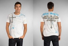 Wholesale Lost Angels - Free shipping summer printed lost angels mens short sleeved t-shirts tops tees in white 6019