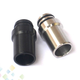 Wholesale Ego Black Stainless - Stainless steel material EGO ONE e cigarette 510 drip tips Fit vapes EGO ONE Atomizer ecigarette Silver Black 2 Colors DHL Free