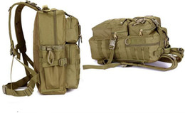 Wholesale Tactical Molle Assault Backpack - Outdoor Military Tactical Assault Camo Soldier Backpack Molle System 3 Day Life Saver Bug Out Bag Survival SWAT Police 5pcs lots