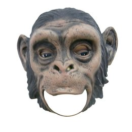 Wholesale Realistic Animal Costumes - Realistic Orangutan Latex Masks Full Face Animal Monkey Mask Scary Mask Halloween Party Cosplay Prop Masquerade Fancy Dress