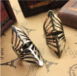 Wholesale Armour Rings - Min.order is $15 (mix order)-Heavy Metal Super Vision Punk Sharp Armour Ring-J034