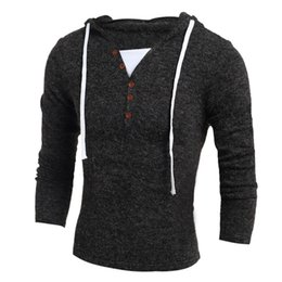 Wholesale Crochet T Shirt Color - Free shipping new Fashion sweater jacket hedging Slim men T shirts gray sweater hot Men's Clothing