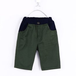 Wholesale Boys Pants Stars Pocket - Wholesale-Wholesale 2015 summer new style star and striped pockets style little boys middle pants baby boys knee length pants H0907