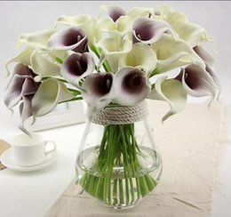 Wholesale Lighted Calla Lily - Calla Lily For Wedding Bouquet flower fragrance soft plastic flowers decorative floral calla real touch Free Shipping HP011