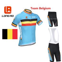 vestuário de fábrica Desconto Atacado-Bélgica equipe nacional 2015 manga curta roupas de ciclismo e ciclismo bermudão set roupas de ciclismo direto da fábrica de alta qualidade