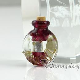Wholesale Miniature Glass Bottle Vials - small glass vials for necklaces miniature hand blown glass bottle charms jewelleryminiature glass jars