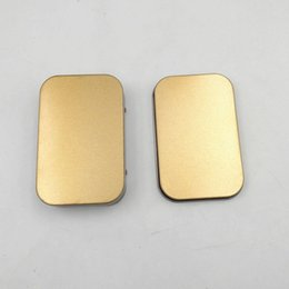 Wholesale Disk Cases - Mini Tin Box Small Empty Gold Metal Storage Box Case Organizer For Money Coin Candy Keys U Disk Headphones ZA5195